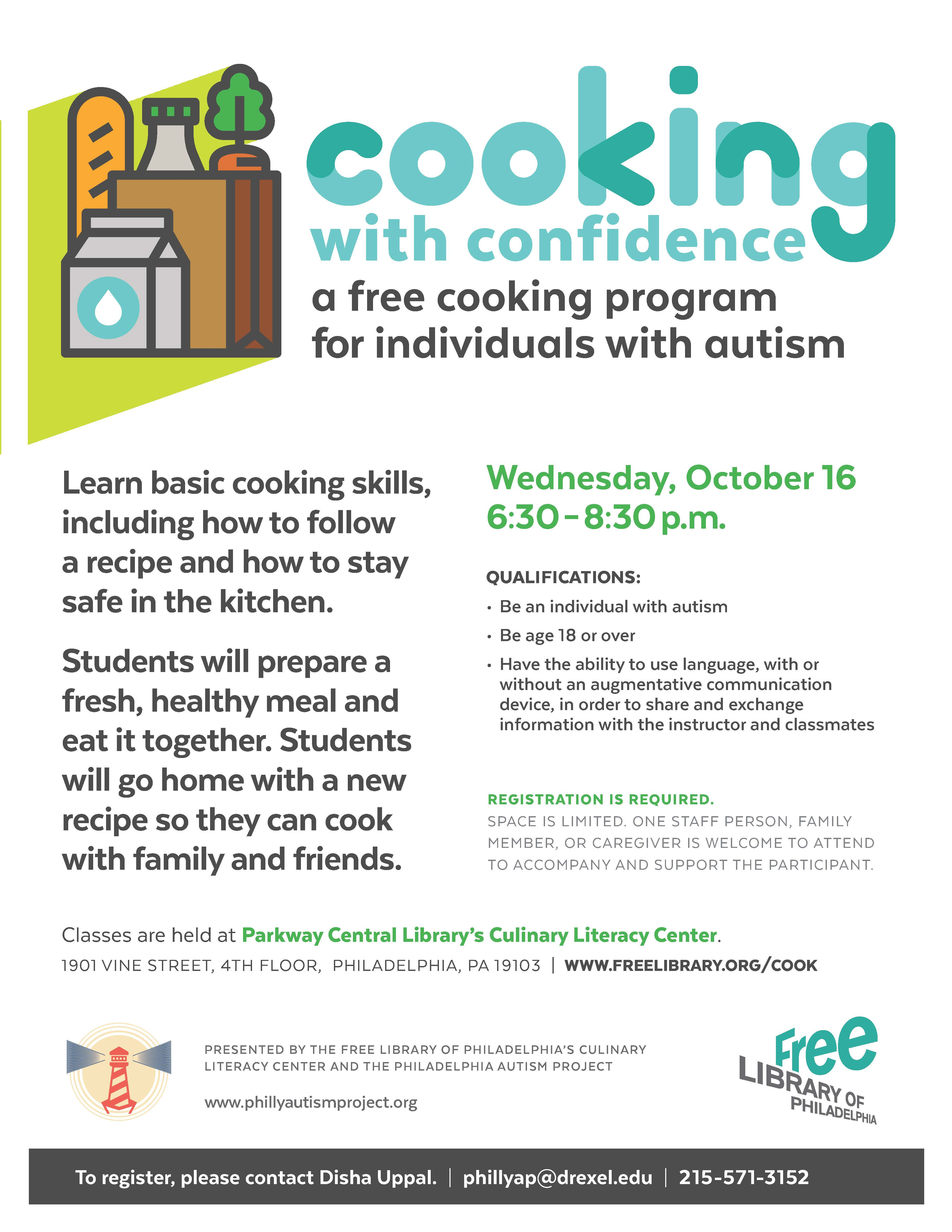 Cooking With Confidence Flyer 2019